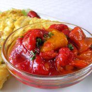 Domácí salát z pečených paprik recept