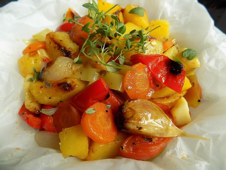 Máslová zelenina v papilotě recept