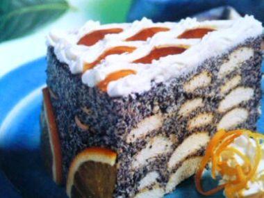 Makový dort 2