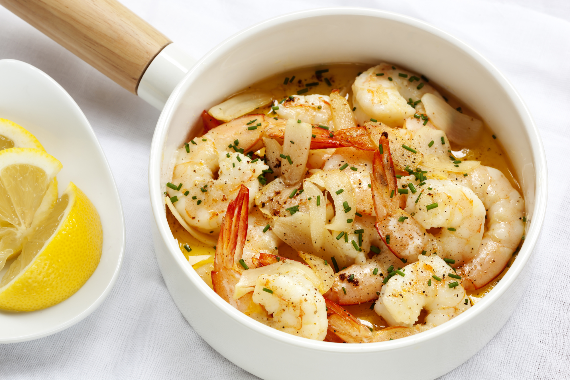 Krevety s máslovo-vanilkovou omáčkou recept