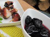 Grilované švestky ve slanině recept