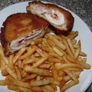 Plněný kuřecí řízek s debrecínkou a slaninou recept