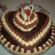 Výborný ořechový dort recept