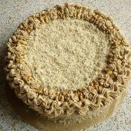 Ořechový dort s kávovým krémem recept