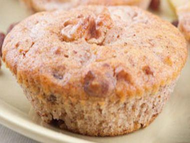 Jablkové muffiny s ořechy a rozinkami