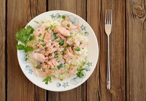 Rooibosové risotto s lososem
