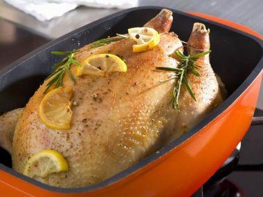 Pečené kuře s citrónem