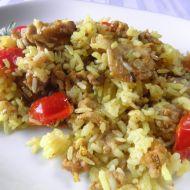 Dušená masová směs s lilkem a rýží recept