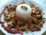 Kuřecí směs se zeleninou a houbami v parním hrnci recept ...