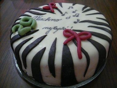 Zebří narozeninový dort