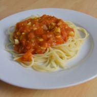 Jednoduchá rajčatová omáčka na špagety recept