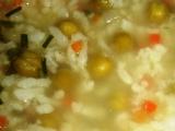 Polévka s rýží a hráškem recept