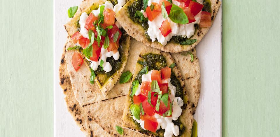 Libanonský chléb jako pizza