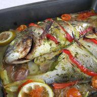 Pražma pečená s rajčaty a paprikou recept