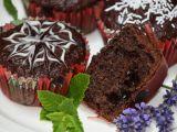 Kakaovo-jablkové muffiny plněné povidly recept