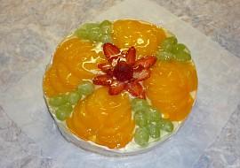 Ovocný dortík  zdobení recept