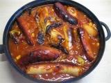 Párkový kotlík s fazolemi recept