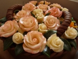 Košík s růžemi recept