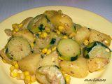 Cuketovo-bramborová rychlovka recept