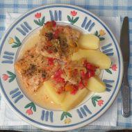 Rybí filé se zeleninou recept