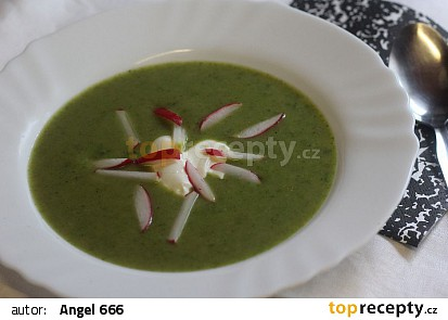 Ředkvičková polévka s celerem recept