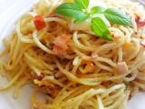 Zapečené špagety ve smetaně recept
