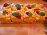 Tvarohový koláč bez tvarohu recept