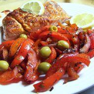 Losos s paprikovou přílohou recept