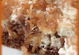 Kakaovo-tvarohové řezy s jablky a kokosem recept