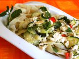 Dlouhé nudle s cuketou a tofu recept