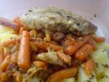 Štikozubec s mrkví a bazalkou (Rychlý oběd do práce) recept ...