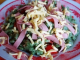 Salát se špenátovými nočky recept