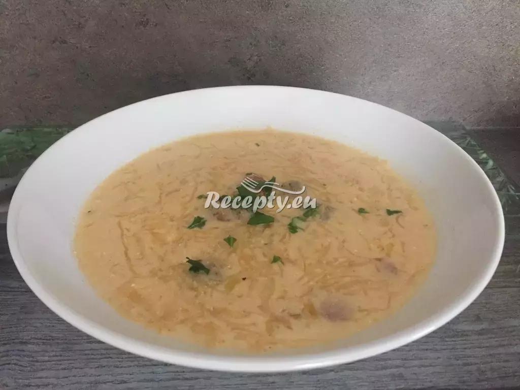 Domácí česká zelňačka s klobásou recept  polévky
