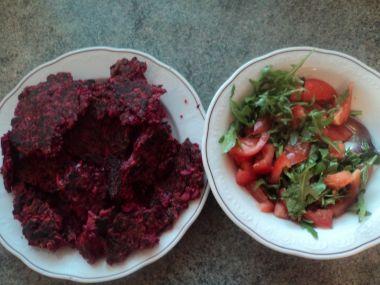 Placičky a la bramborák z červené řepy a mrkve