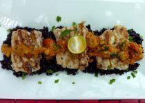 Šafránová treska na víně s krevetkami recept