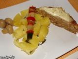 Kapustovo-kuřecí sekaná s uzeným bůčkem recept