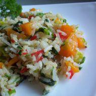 Zeleninová rýže se špenátem recept