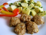 Kuličky z krůtího masa a brambor recept