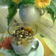 Dezert s chia semínky a pečeným ovocem recept