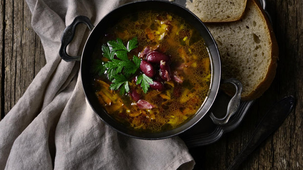 Istrijská fazolová polévka