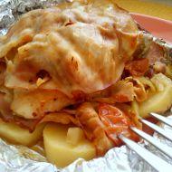 Kuře s brambory a zeleninou v alobalu recept