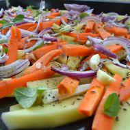 Pečená zelenina s česnekem recept