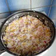 Krabí tyčinky s rýží a kukuřicí recept