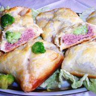 Šátečky plněné masem a brokolicí recept