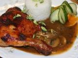 Pečené kuře v džusové marinádě recept