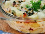 Zapečené gnocchi s kuřecím masem, se třemi druhy sýrů recept ...