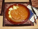 Vepřové plátky s arašídovou omáčkou recept