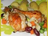Kuře pečené na zelenině-nejen pro diabetiky recept