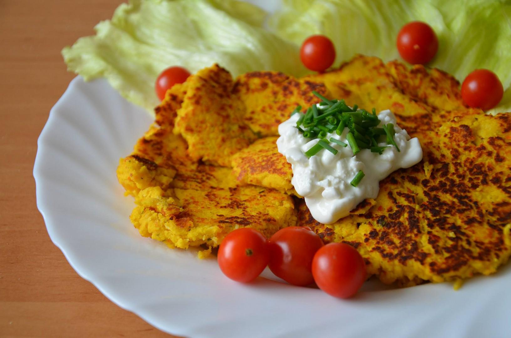 Hokkaido placičky s kuřecím masem recept