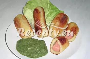 Plněné bramborové trubičky recept  přílohy